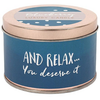 Relax Candle Tin