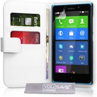 YouSave Nokia XL Leather Effect Wallet Case - White