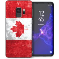 CASEFLEX SAMSUNG GALAXY S9 RETRO CANADA FLAG CASE / COVER (3D)
