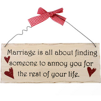 Marriage Is All About Hanging Sign