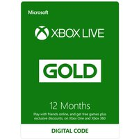 Xbox Live Gold 12 Months Membership Card Xbox 360 and Xbox One Digital Download