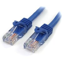 StarTech 10 ft Blue Snagless Cat5e UTP Patch Cable