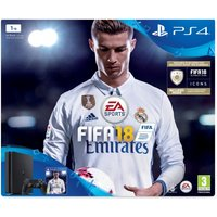 PS4 1TB FIFA 18 Console Bundle - with FIFA 18 Ultimate Team Icons and Rare Player Pack