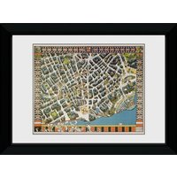 Transport For London Stylised Map Framed Collector Print