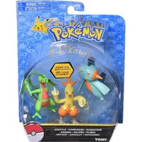 Pokemon Action Pose 3 Figure Set - Grovyle Combusken & Marshtomp