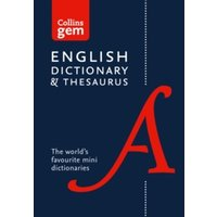 Collins English Dictionary and Thesaurus Gem Edition : Two Books-in-One Mini Format