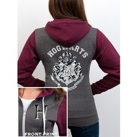 Harry Potter - Hogwarts Varsity Men's Large Varsity Jacket - Grey