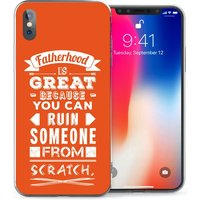 CASEFLEX APPLE IPHONE X FATHERHOOD FUNNY QUOTE (RED) CASE / COVER (3D)