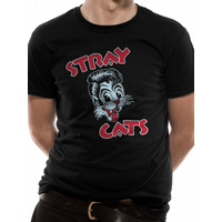 Stray Cats - Logo Men's Small T-Shirt - Black