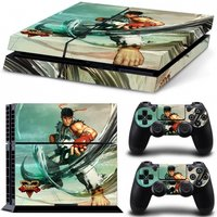 'Street Fighter V Ryu Ps4 Console And Controller Vinyl Sticker Kit