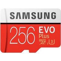 Samsung EVO Plus 256GB Micro SDXC Class 10 Flash Card with Adapter