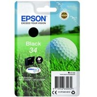 Epson C13T34614010 (34) Ink cartridge black, 350 pages, 6ml