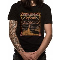 Deep Purple Multi Colour Unisex Small T-Shirt - Black