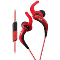 JVC HAETR40R Sports Earphones with Remote & Mic Red