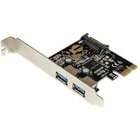 2 Port PCI Express PCIe SuperSpeed USB 3.0 Controller Card w/ SATA Power