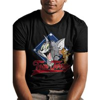 Tom And Jerry - Tj Varsity Men's XX-Large T-Shirt - Black