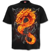 Fire Dragon Men's Small T-Shirt - Black