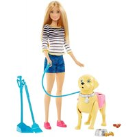 Ex-Display Barbie Walk and Potty Pup Pet Doll Used - Like New