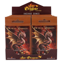Pack of 12 Desert Dragon Incense Cones by Anne Stokes