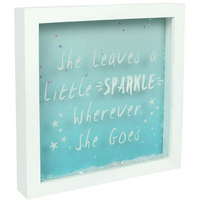She Leaves A Little Sparkle Glitter Box Frame