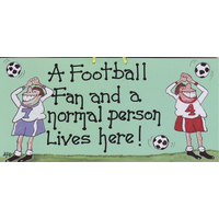 A Football Fan And A Normal Person Live Here Pack Of 12
