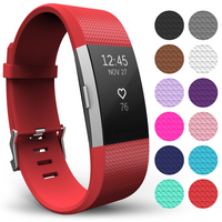 'Yousave Fitbit Charge 2 Strap Single (small) - Red