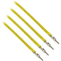 CableMod ModFlex Sleeved Cable Yellow 40cm - 4 Pack