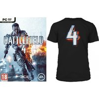 Battlefield 4 Game (Includes China Rising DLC) + BF4 Black T-Shirt in Large