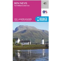 Ben Nevis, Fort William & Glen Coe by Ordnance Survey (Sheet map, folded, 2016)