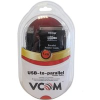 VCOM USB 2.0 A (M) to Parallel Printer (M) 1.2m Black Retail Packaged Printer/Scanner Data Cable