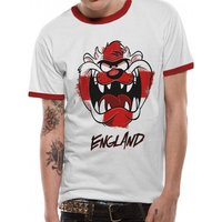 Looney Tunes - Taz Face Boxed England Men's Small T-Shirt - White