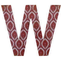 Letter W Wall Plaque