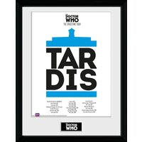 Doctor Who Spacetime Tour Tardis Framed Collector Print