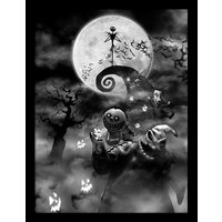 Nightmare Before Christmas - Oogie Boogie Trouble Framed 30 x 40cm Print