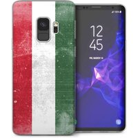 CASEFLEX SAMSUNG GALAXY S9 RETRO HUNGRY FLAG CASE / COVER (3D)
