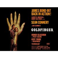James Bond - Goldfinger - Hand Canvas