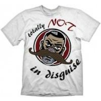 BORDERLANDS Men's Dr. Ned Totally Not in Disguise T-Shirt, Extra Large, White
