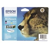 Epson C13T07154012 (T0715) Ink cartridge multi pack, 7,4ml 3x5,5ml, Pack qty 4
