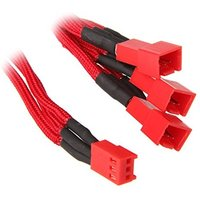 BitFenix Alchemy 3-Pin to 3x 3-Pin Adapter 60cm - sleeved red/red