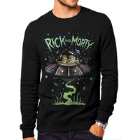Rick And Morty - Space Men's Small Sweatshirt - Black