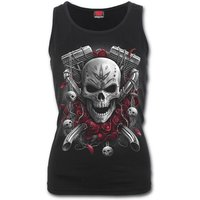 Day of the Dead Women's X-Large Bikers Razor Back Top - Black