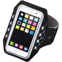 Hama Running Sports Arm Band for Smartphones, Size XL, with LED, black
