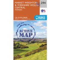 Market Weighton and Yorkshire Wolds Central by Ordnance Survey (Sheet map, folded, 2015)