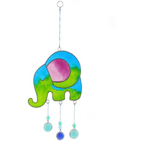 Blue/Green Elephant Suncatcher