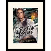 Pirates of the Caribbean - Break The Curse Mounted & Framed 30 x 40cm Print