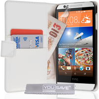 YouSave Accessories HTC Desire 510 Leather-Effect Wallet - White