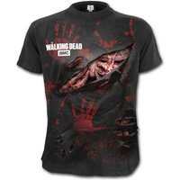 Zombie - All Infected The Walking Dead Men's Small Ripped T-Shirt - Black