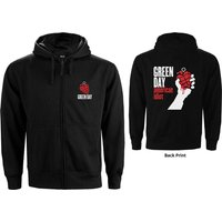 Green Day - American Idiot Men's XX-Large Zipped Hoodie - Black