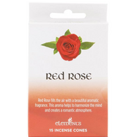 12 Packs of Elements Red Rose Incense Cones