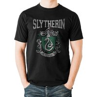 Harry Potter - Slytherin Varsity Crest Men's Large T-Shirt - Black